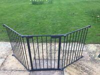 BabyDan Black Flex M Stair/Hearth Gate: Core panel + 2 sections