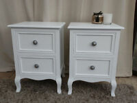 2 Drawer White Bedsides (Pair)