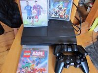 Playstation PS3 console with 2 controllers and 13 games excellent condition