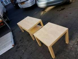 Light oak wood matching coffee table and lamp table