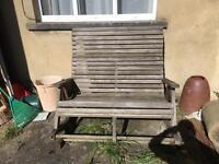 Garden double rocker bench