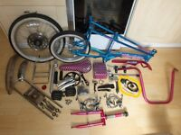 RALEIGH CHOPPER (TURQUOISE & PINK) MK3 (STRIPPED & CLEANED FOR SPARE PARTS AS PRICED)