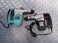 X2 Heavy Duty Demolition Electric Drills - Good working order.