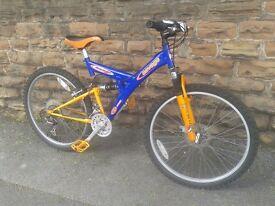 SAVAGE DEFENDER PRO Full Suspension Bike Front Disk As NEW