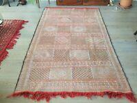Original Hand Made Antique Moroccan Berber Carpet Kilim Rug (Large)