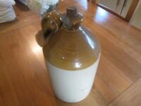 Victorian Stoneware Salt Glaze Flagon Cider Beer jar pot