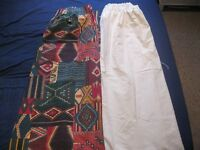 """PAIR OF FULLY LINED CURTAINS BhS , Each 66"""" wide, 54"""" drop"""