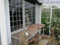 A large metal shed for sale