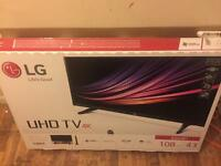 LG 4k tv 43 inch UH610..used for a week + 5 yr john lewis warranty