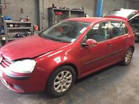 Vw golf mk5 1.9 tdi bkc gqq jcr breaking LA3W red spares