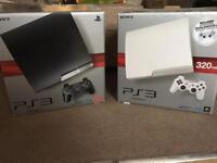 PS3 Bundle black 250gb and a PS3 White 320gb