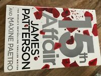 15th affair by James Patterson paperback