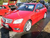 MERCEDES C CLASS 2.1CDI C220 Blue F Sport Saloon 4d 2145cc auto (red) 2009