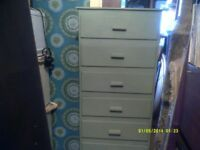 A SUPERB 7 DRAWER CHEST of DRAWERS , In V.G.C. IT IS In a sort of OLIVE ?