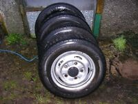 steel wheels and tyres 15 inch for ford transit (transit connect, renault, berlingo)