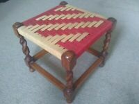 antique oak barley twist stool footstool