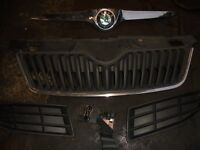 SKODA FABIA 2011 Bumper & Bonnet Grills, parts job lot