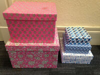 PRICE LOWERED Pretty Storage Boxes, Made in India