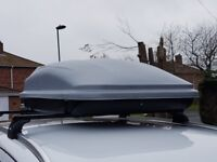 Roof box about 250ltrs good condition, no keys but i have never used them myself £40.00 ono