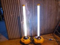 2 x defender 240 volt worklights supplied with four spare tubes