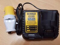 DeWalt DCB115 10.4v to 20v MaxBattery SlimFAST Charger in the Worls Lithium-Ion 110volt UK site plug
