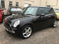 MINI One 1.6 3dr, 2003, 70K Miles Warranted, 2 Lady Owners, 2 Keys, MOT MARCH 17, Service History