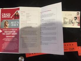 2 x Bronze circle tickets for Rita Ora & Craig David @ Northampton- price for 2!