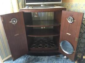 Vintage wooden drinks cabinet.
