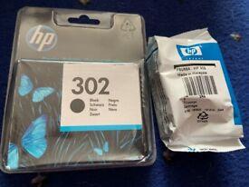 HP 302 printer ink cartridges