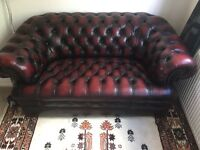 Chesterfield oxblood sofa