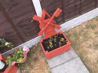 Windmill garden planter