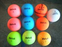 10 VOLVIK golf balls in excellent condition VIVID, VISTA 4pc, Crystal