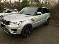 Late 2014 Range Rover Sport HSE L494 Silver and Black 3l SDV6 288BHP 7 SEATS