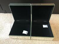 2x mirror jewellery boxes
