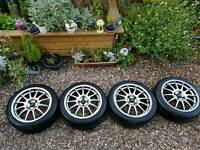 "Team dynamics pro race 1.2 alloys 4x100 16"" Renault mini mg"