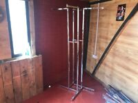 Professional shop chrome clothes rails x30