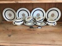 "Woods Burslem ""Selston"" fine china tea set, pretty floral pattern, very good condition"