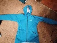 Women's Size 8 Berghaus turquoise hooded jacket