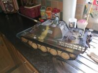 Remote scale model metal tank 1/16