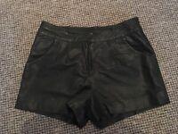 Leather shorts size 10