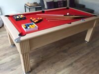 7ft Slate Bed Pool Table - Great condition with accessories *Collection Only*