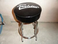 Revelation Guitar Stool (Tall) 760mm Chrome with Black Seat
