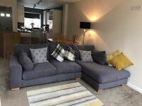 Grey Corner/Chaise Sofa