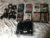 Mega drive with games