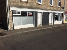 Well located Shop For Rent, 21-22 Pitgaveny Street Lossiemouth Marina MORAYSHIRE