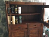 Acacia wood Drinks cabinet with furniture passport