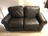 CAN DELIVER- BROWN LEATHER RECLINER LAZY BOY 2 SEATER SOFA