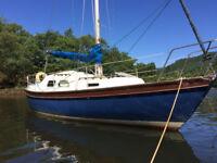 Samphire 26, masthead sloop rigged, long keel sailing yacht, Yanmar 12hp diesel, 18 gallon tank
