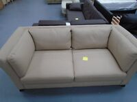 Brand New Genuine Leather 3 Seater Sofa Cream. 205cm Wide. Retails At £699. Can Deliver