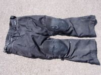 Ryan Matthews motorcycle trousers - with removable winter lining